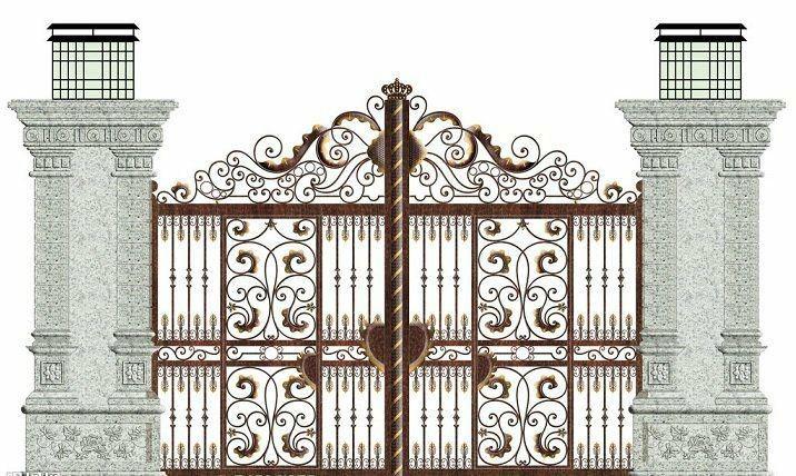 漂亮的欧式锻造大门
