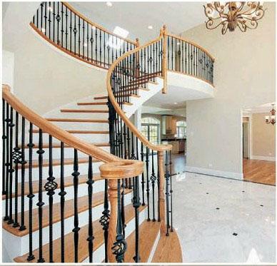 漂亮的铁艺楼梯